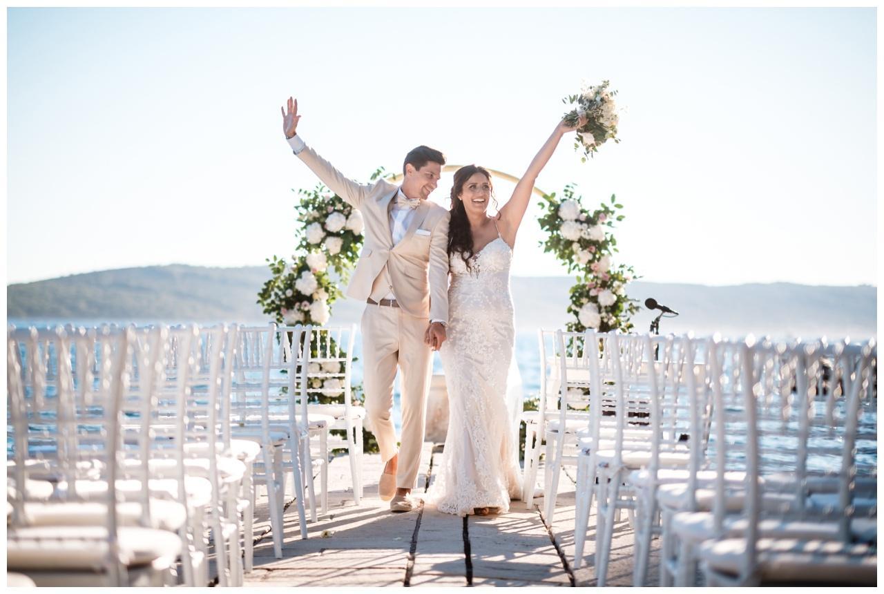 hochzeit kroatien hochzeitsplanung freie Trauung 1 - Hochzeit am Wasser in der alten Villa
