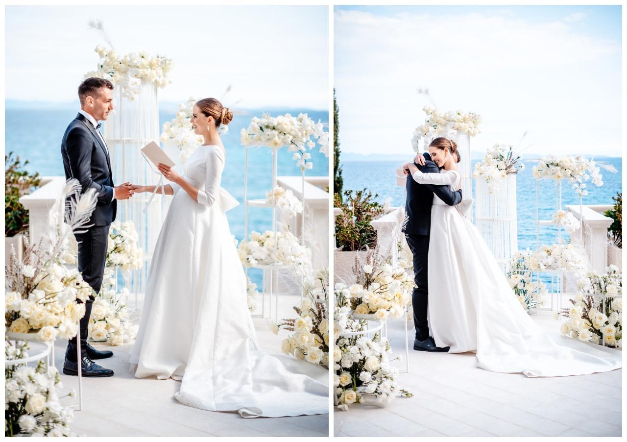 Hochzeit Kroatien Hochzeitsplanung Hochzeitsplaner Fotograf 10 - Luxuriöse Hochzeit in Weiß