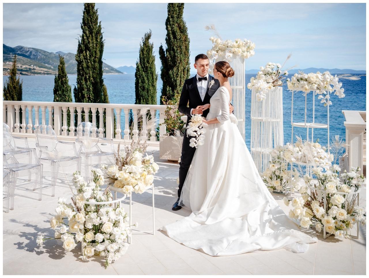 Hochzeit Kroatien Hochzeitsplanung Hochzeitsplaner Fotograf 12 - Luxuriöse Hochzeit in Weiß