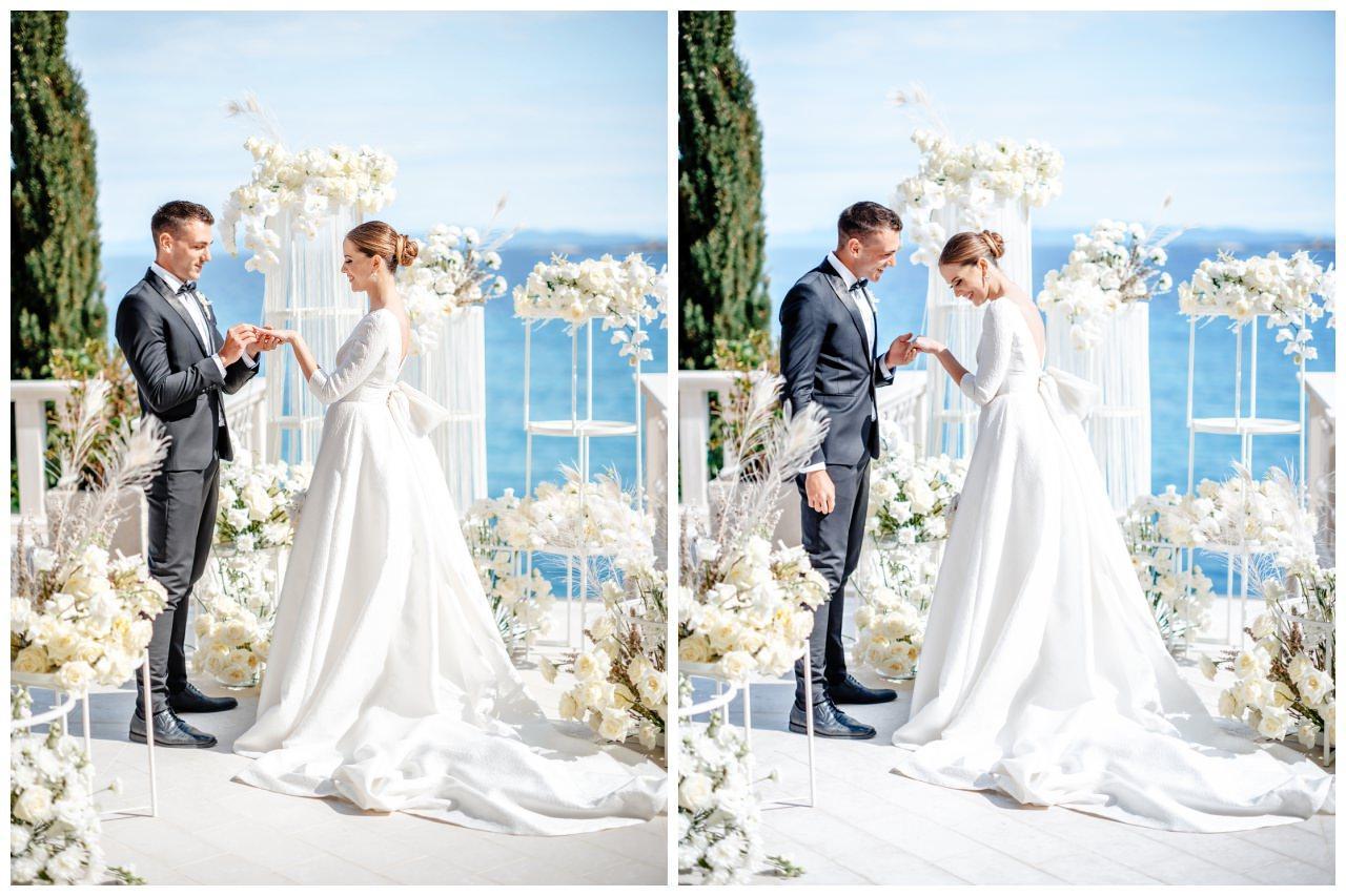 Hochzeit Kroatien Hochzeitsplanung Hochzeitsplaner Fotograf 13 - Luxuriöse Hochzeit in Weiß