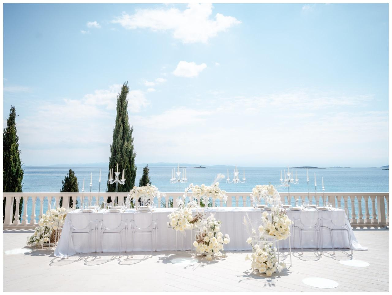 Hochzeit Kroatien Hochzeitsplanung Hochzeitsplaner Fotograf 16 - Luxuriöse Hochzeit in Weiß