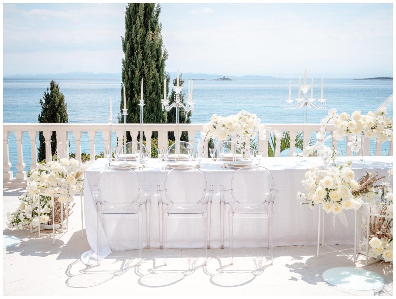 Hochzeit Kroatien Hochzeitsplanung Hochzeitsplaner Fotograf 17 - Luxuriöse Hochzeit in Weiß
