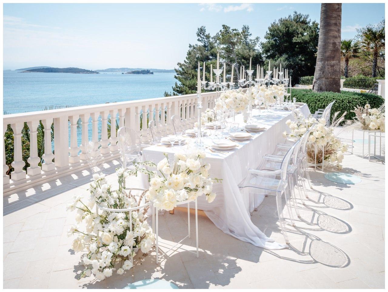 Hochzeit Kroatien Hochzeitsplanung Hochzeitsplaner Fotograf 21 - Luxuriöse Hochzeit in Weiß