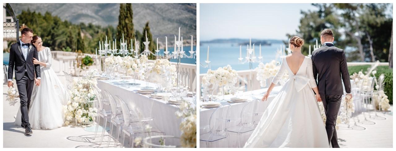Hochzeit Kroatien Hochzeitsplanung Hochzeitsplaner Fotograf 23 - Luxuriöse Hochzeit in Weiß