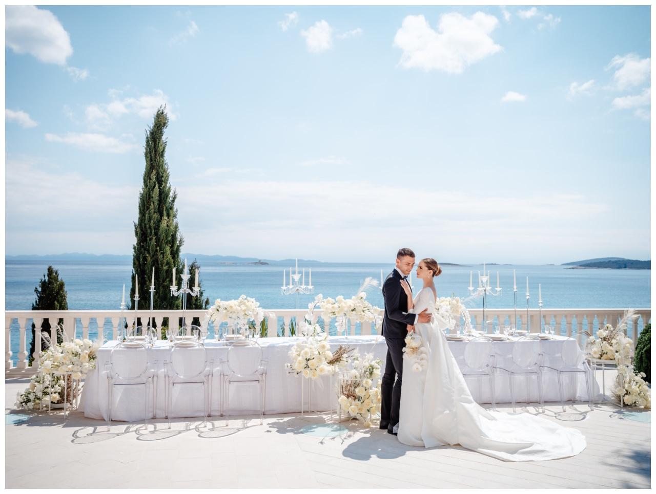 Hochzeit Kroatien Hochzeitsplanung Hochzeitsplaner Fotograf 24 - Luxuriöse Hochzeit in Weiß