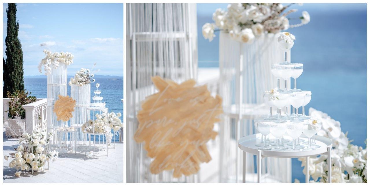 Hochzeit Kroatien Hochzeitsplanung Hochzeitsplaner Fotograf 31 - Luxuriöse Hochzeit in Weiß