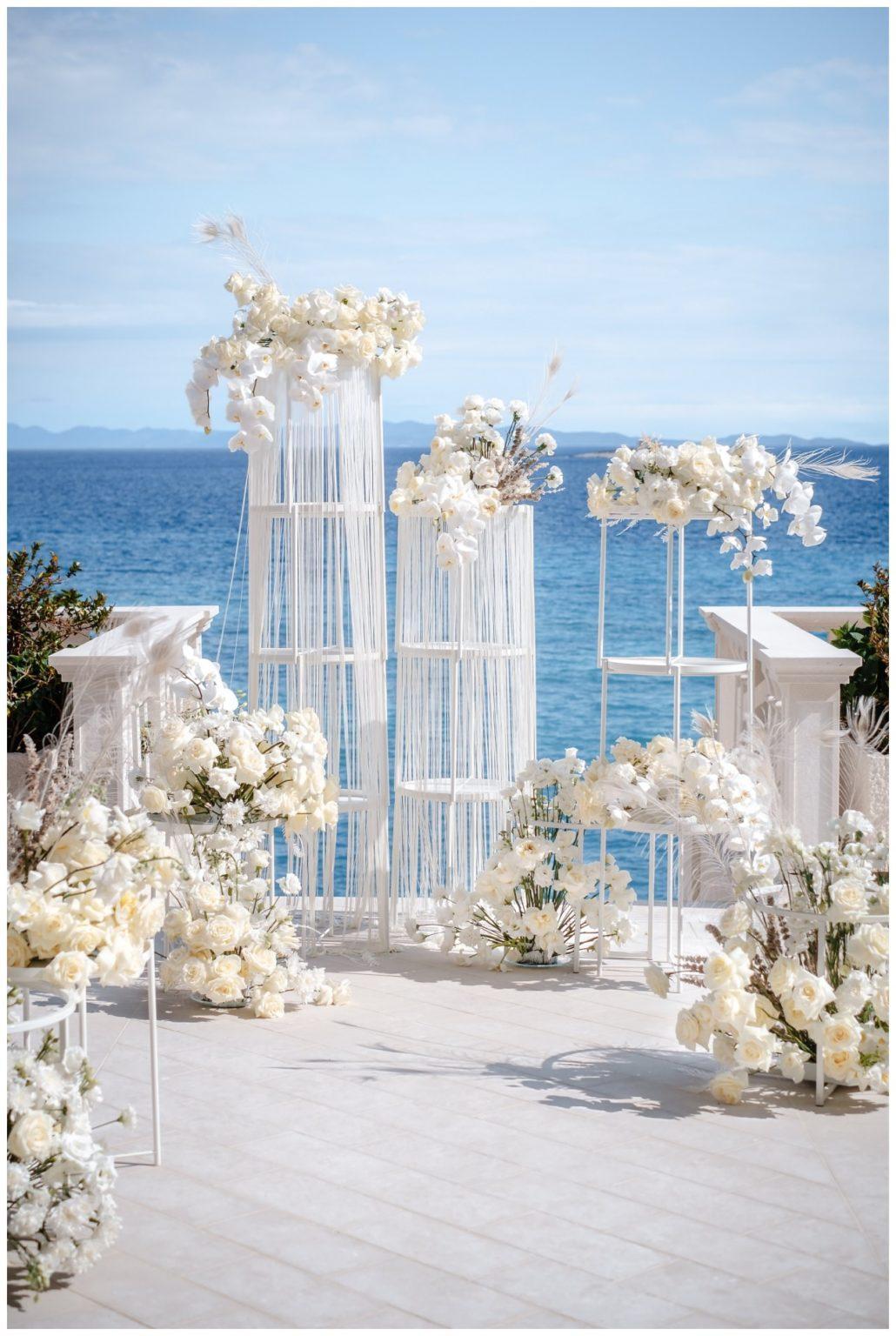 Hochzeit Kroatien Hochzeitsplanung Hochzeitsplaner Fotograf 8 - Luxuriöse Hochzeit in Weiß