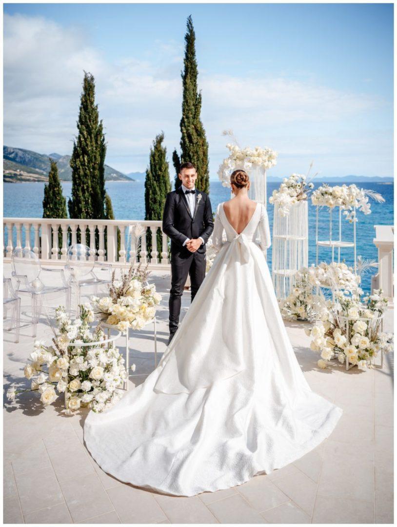 Hochzeit Kroatien Hochzeitsplanung Hochzeitsplaner Fotograf 9 - Luxuriöse Hochzeit in Weiß