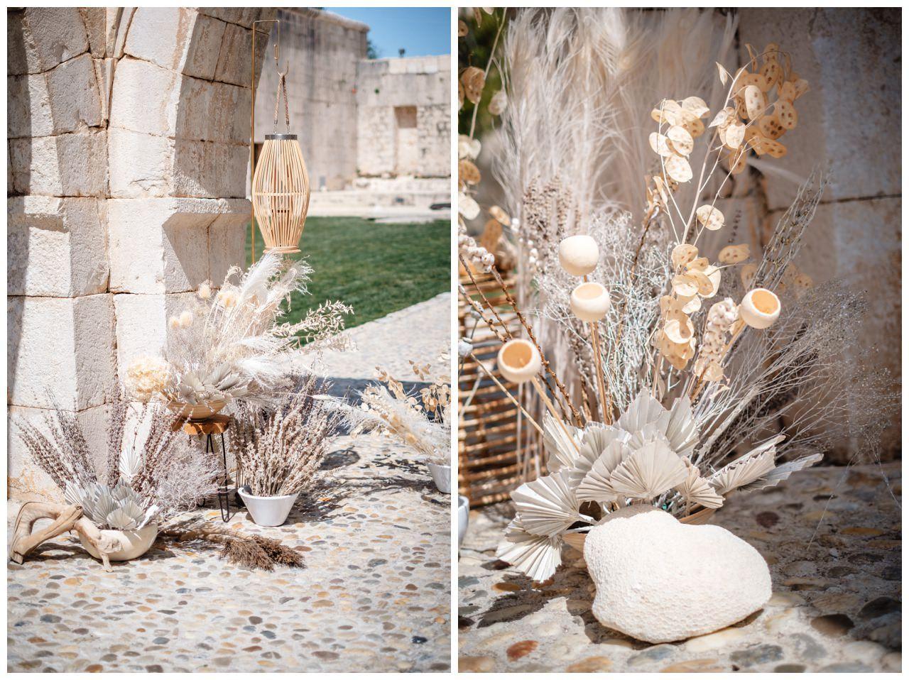 Hochzeit Kroatien Planung Hochzeitsplaner Trockenblumen Fotograf 5 - Natürliche Hochzeit mit Trockenblumen