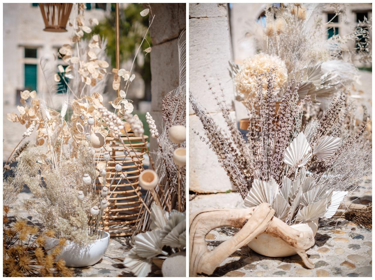 Hochzeit Kroatien Planung Hochzeitsplaner Trockenblumen Fotograf 6 - Natürliche Hochzeit mit Trockenblumen