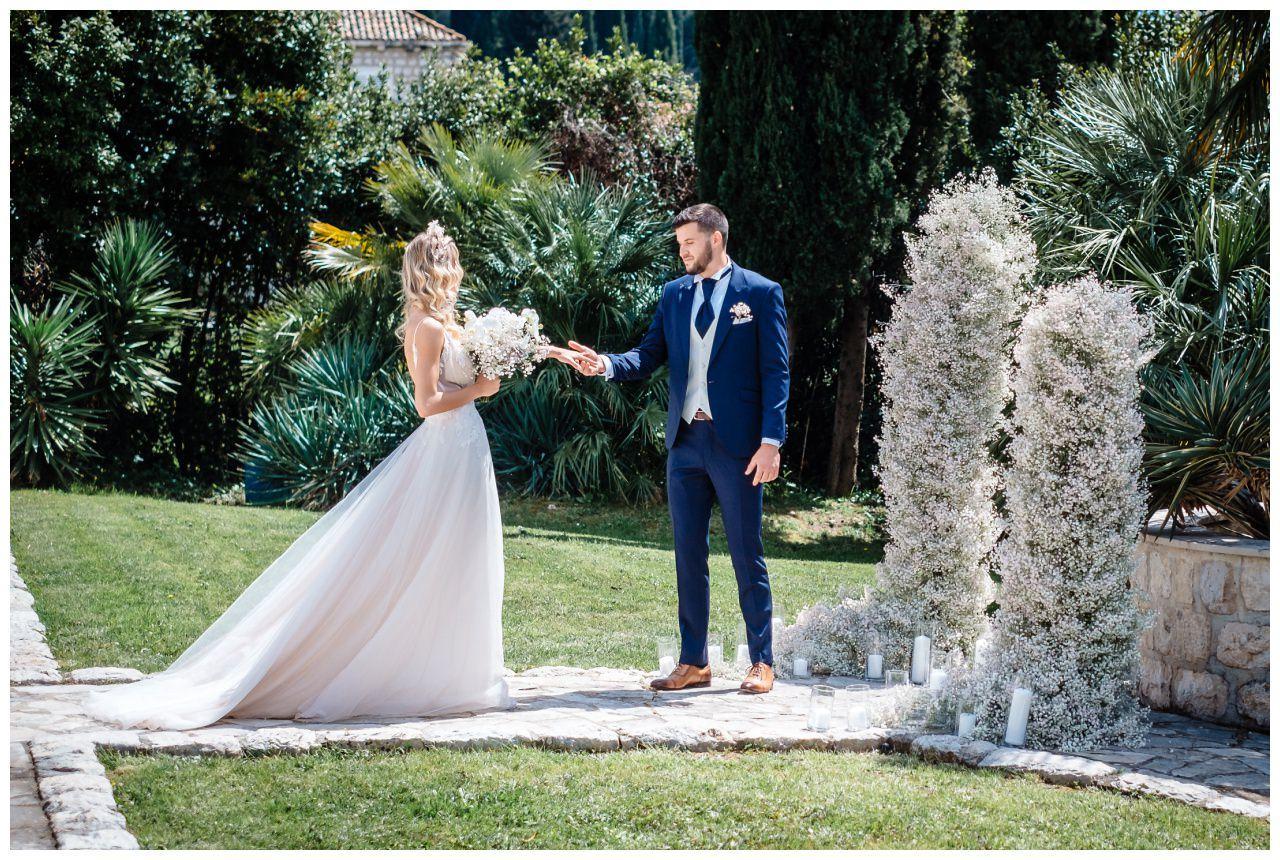 Hochzeit Villa Kroatien Hochzeitsplanung Fotograf 8 - Romantische Hochzeit in einer Villa