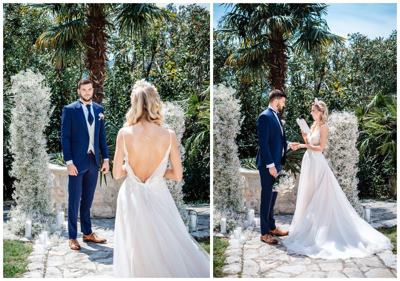 Hochzeit Villa Kroatien Hochzeitsplanung Fotograf 9 - Romantische Hochzeit in einer Villa